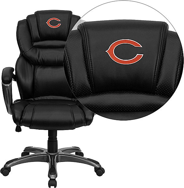 Chicago Bears Embroidered Black Leather Executive Office Chair