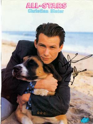 Christian Slater autographed 8x11 Magazine Page (All Stars Teen Magazine ...