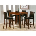 5PC Denton Roasted Cocoa Bar Height Table w/ Bar Chairs