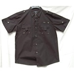 Ablanche Black Flap Pocket Button Down Mens Shirt