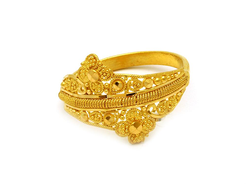 Gold Ring Design For Female Without Stone | Ring designs, Gold ...