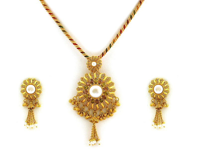 Indian Gold Pendant Designs - 2018 images & pictures - A2437 Fancy ...