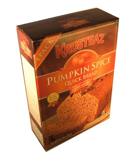 Krusteaz Pumpkin Spice Quick Bread Supreme Mix 64 Ounce Box ...
