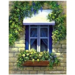 Royal European Window Grisaille Canvas Paint by Number Kit