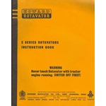 Howard E series rotavator operators E40, E50, E60, E70, E80