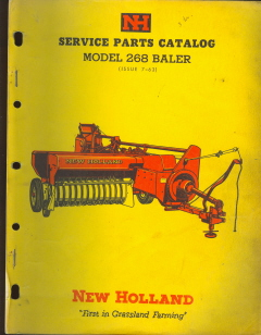 New Holland 268 Baler Adjustments http://www.monstermarketplace.com/farm-and-construction-equipment-manuals/new-holland-268-baler-parts