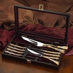 Royal Albert Old Country Rose 10 Piece Steak Knives With Chest