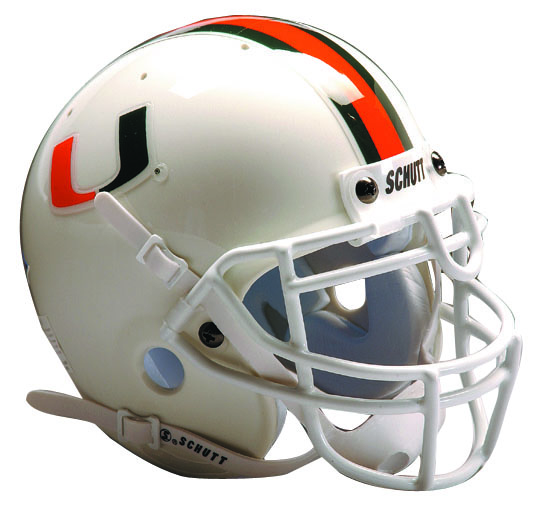 Miami Hurricanes Schutt Full Size Authentic Helmet