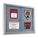 Mooreco Best Rite SlidingDoor Bulletin Board 4'W x 3'H