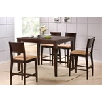 5PC Audrey Counter Height Dining Table Set in Cappuccino