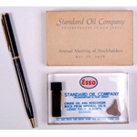 1958 Esso-Standard Oil Co. souvenir paperweight