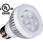 LED/PAR20/DIM/5W/3000K/UL NSL DIMMABLE LED UL AND CSA APPROVED. Minimum order 4ea.