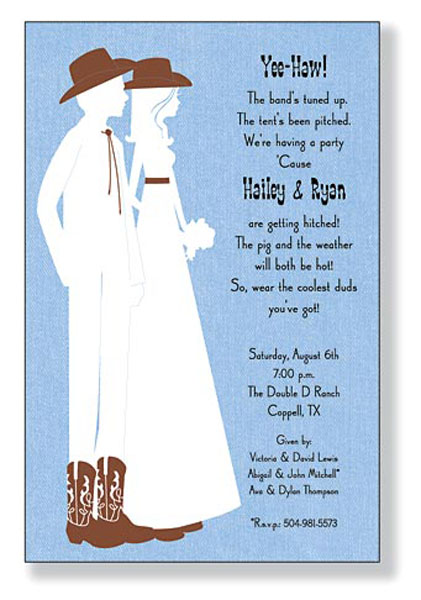 Eliza-\'s blog: A Western Theme DIY Blank Wedding Invitation for ...