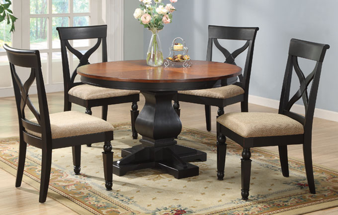 Dining table round dining table distressed wood for Distressed round dining table