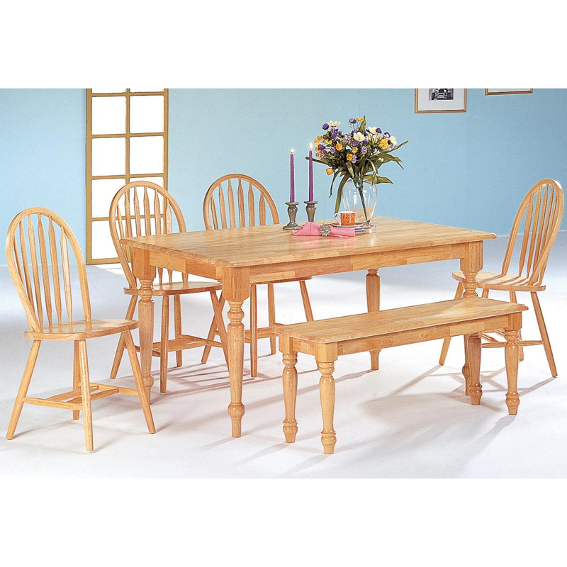 Dining table butcher block dining table chairs - Butcher block kitchen table set ...