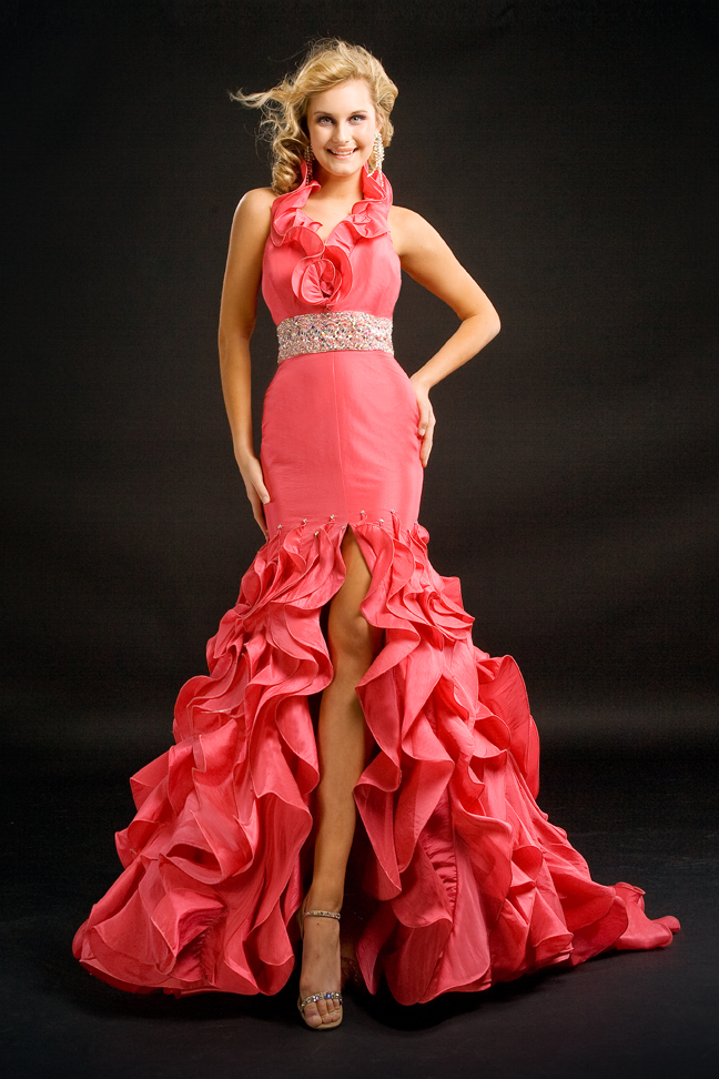 From the Prima Donna 2011 Collection for Party Time Formals Shown in Coral