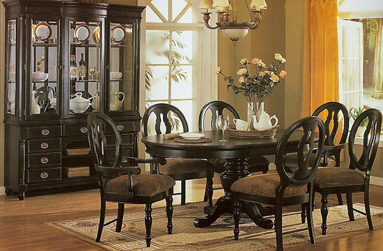 dining table black dining table hutch