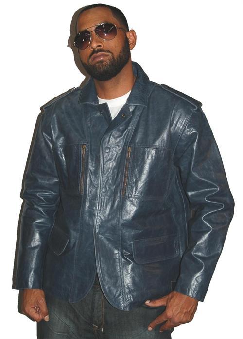 Leather Jacket Men Style. Blazer Style Blue Mens Leather