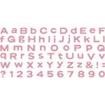 """QuicKutz Moonlight SkinniMini Complete Alphabet (4"""" x 8"""")"""