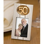 Gold 50 Photo Frame Wedding Anniversary Favor