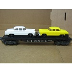 LIONEL POSTWAR #6424 FLAT CAR W/ TWO MADISON AUTO'S