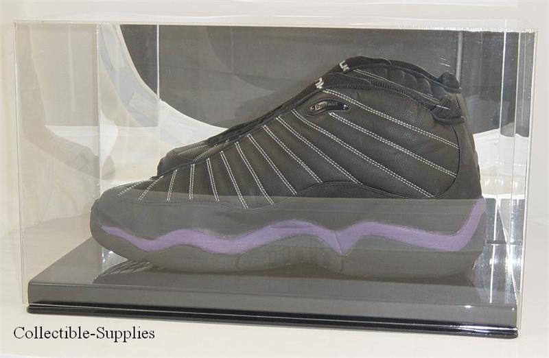 ULTRA BASKETBALL SINGLE SHOE DISPLAY CASE HOLDER to SIZE 22 will fit