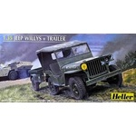 Jeep Willys w/Trailer 1-35 Heller