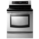 "Samsung 30"" Freestanding Induction Range FTQ307NWGX Stainless Steel"