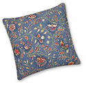 "Williamsburg 14"" x 14"" Wakefield Navy Blue Floral Quilted Pillow - CNF890851414"