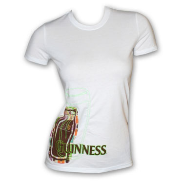 shirt outline front and back. Guinness Pint Outline White