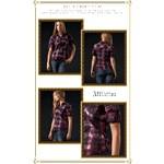 LADIES PLAID AFFLIXTION SHIRT *02WV404