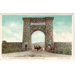 Yellowstone National Park - Arch at Northern Entrance c1910 Horse & Buggy