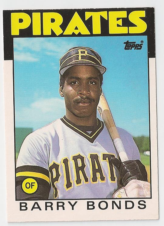 barry bonds rookie card spoof. arry bonds rookie card. 1986 Topps Barry Bonds Rookie