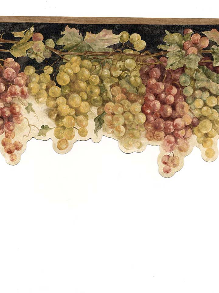 grape wallpaper border. at Wallpaper amp; Borders Silver
