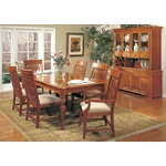 7PC Oak Pineapple Formal Dining Table Set