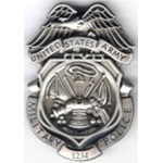 ARMY MP BADGES SILVER OXIDIZED Engraved