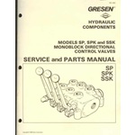 Gresen (Dana) SP, SPK, SSK, Hydraulic control valves block service