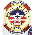 US NAVY SPECIAL BOAT UNIT 20 PATCH - LARGE
