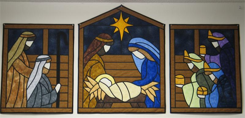 Christmas Nativity Advent Calendar, magnetic, pattern