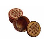 Russian Birch Bark Box -Small Round Assortment