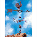 "Whitehall 45148 Verdigris 30"" Full Bodied Rooster Weathervane"