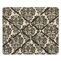 Black & Cream Damask Floral French Memo Board