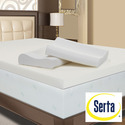Serta Mattress Serta 4 inch Memory Foam Mattress Topper with Contour Pillows (Red Queen Memory Foam) - MPPKK114