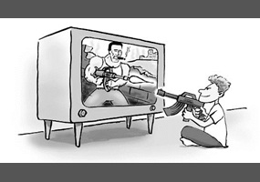 the effects of violence in television on the society The role of media violence in american society and desensitizes them to the effects and implications of violence fact that television causes violence in.