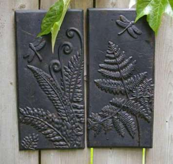 Fern Cast Iron Wall Panel-set of 2 | MonsterMarketplace.