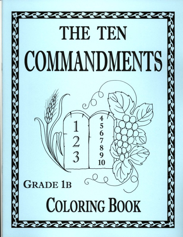 free the 10 commandments coloring pages