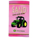 John Deere Pink Beach Towel