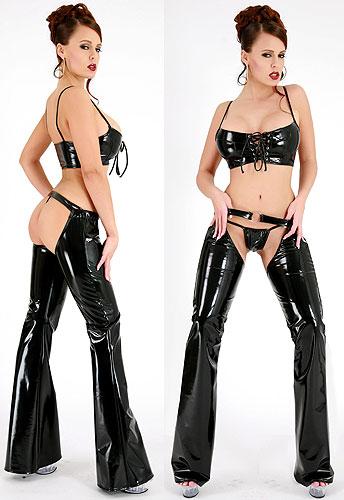 0832e96180c13f8bacb2fd542bc2 Lack Chaps Set Schwarz Sexy Clubwear