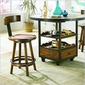 American Drew Americana Home Stool in Rustic Dark Oak