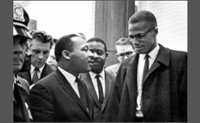 a comparison of the life of martin luther king jr and malcolm x News life the chilling story behind this historic photo of martin luther king jr and malcolm x  in comparison, martin luther king jr was an advocate for using passive resistance to further the.